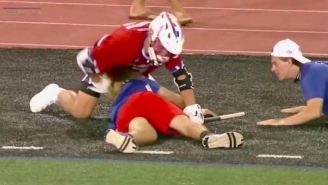 Lax Bro Of The Year Celebrates Goal With Epic RKO Out Of Nowhere