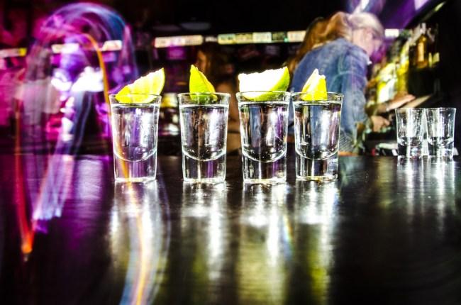 shots binge drinking tequila