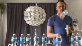 Teacher Bans Bottle Flipping Then Trolls Them With His Own Bottle Flipping Trick Shot Video