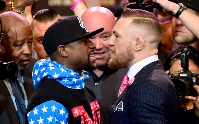 video what mayweather mcgregor said face to face