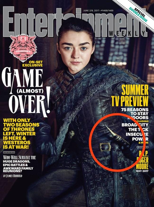 arya stark ew cover game of thrones catspaw blade