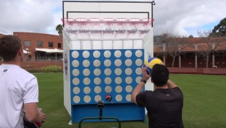 Some Aussie Bros Combined Basketball With Connect Four And It Looks Like The Most Fun Game Ever