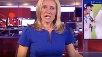 BBC News Segment Interrupted By Staffer Watching Adult Film In Background