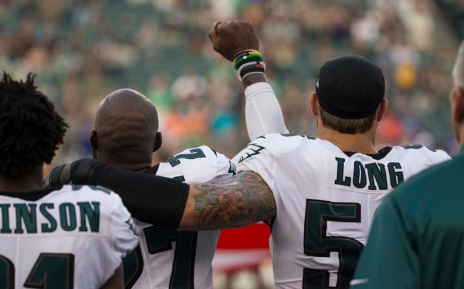 chris long supports malcom jenkins anthem protest