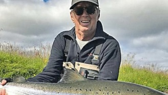 For The Second Summer In A Row, Eric Clapton Has Caught A Dinosaur-Sized Salmon While Fishing In Iceland