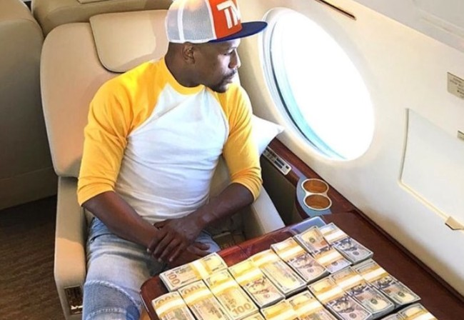 Floyd Mayweather Money Check Conor McGregor Fight
