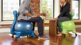 This Balance Ball Chair Just Might Save Your Butt — And Your Back