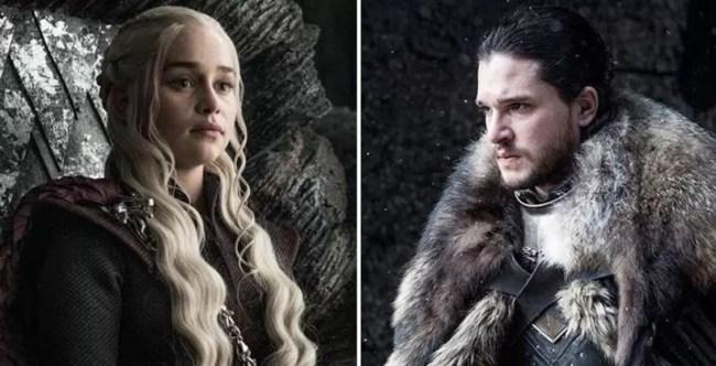Game Of Thrones Jon Snow Daenerys wolf Dragon