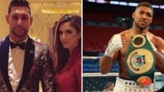 Amir Khan Accuses His Wife Of Cheating On Him With Boxer Anthony Joshua, Joshua Responds With Classic Tweet