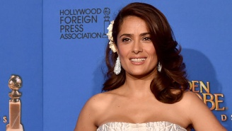 Salma Hayek Spent A Little Time Keeping Things Cool In A Bikini Over The Weekend