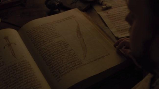 samwell tarly dagger book