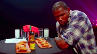 Kevin Durant Sweats Like A Champ Eating The World's Hottest Wings