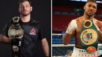 UFC HWT Champion Stipe Miocic Calls Out Boxing Champ Anthony Joshua And Challenges Him To A Fight