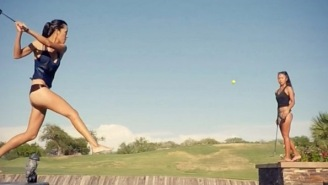This Golfer's Trick Beer Pong Golf Shot (And Many More) Will Blow Your Mind To Smithereens