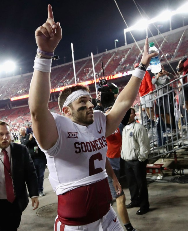 baker mayfield apologize planting flag oklahoma ohio state