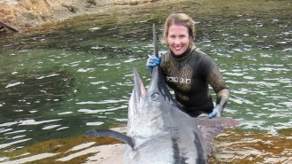 Aussie Sets Spearfishing World Record After Bagging A HUGE Black Marlin