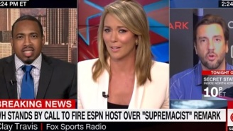 CNN Host Kicks Fox Sports' Clay Travis Off The Air  After He Said He Believed In 'First Amendment And Boobs'