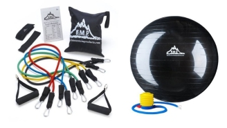 Keep A Complete Gym In Your Closet With This Resistance Band And Stability Ball Combo