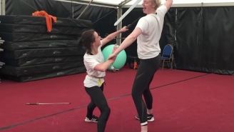 Awesome 'Game Of Thrones' Behind The Scenes Footage Shows Sword Fight Between Arya And Brienne