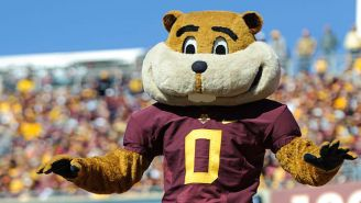Minnesota's Goldy Gopher Absolutely Demolished A Kid During A Mascot Game