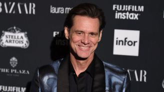 Jim Carrey Gave An Unhinged Interview At A New York Fashion Week Party