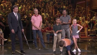 Top Junior Golfers Square Off Against Jordan Spieth And Jason Day In A Heated Game Of Golf Skee-Ball