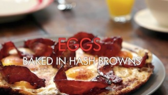 Chef Gordon Ramsay Makes 'Eggs Baked In Hash Browns' And This Is What Heaven Looks Like
