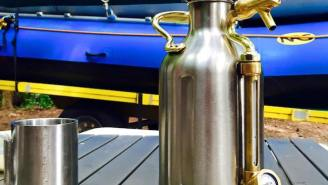 Enjoy A Cold Craft Beer Anywhere With This Handy (And Affordable) Pressurized Growler