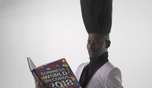 world's tallest high top fade Benny Harlem guinness world records
