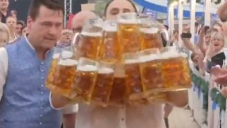 Hold My Beer: German Man Smashes World Record By Carrying 29 Beer Steins At One Time