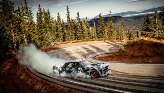 Ken Block Filmed A 'Climbkhana' Up Pikes Peak In His 1,400-HP Hoonicorn Mustang
