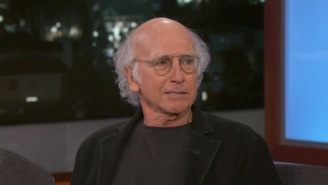 Larry David Was In PEAK 'Curb Your Enthusiasm' Form On 'Kimmel' Last Night, As Crotchety As Ever