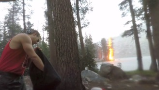 Shocking Footage Shows Exact Moment Campers Are Struck By Lightning In California