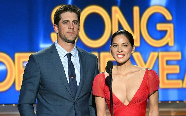 packers fans aaron rodgers curse olivia munn