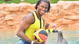 RGIII Is Now Owning Old Dudes At Basketball At A Gym In Estonia, And He Can Flat Out Ball