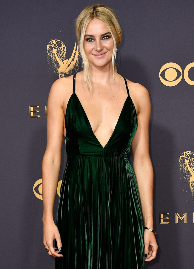 shailene woodley emmys red carpet pics