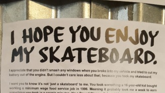Bro Puts Up Amazing Poster Hoping To Find Skateboard Stolen Out Of His Car (Let's Help Him Out!!)