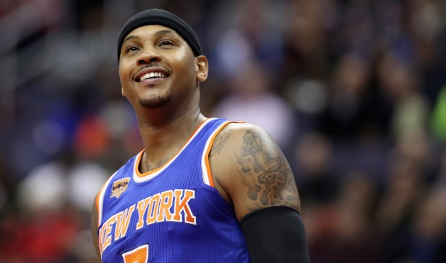 thunder fans carmelo anthony airport videos