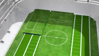 Tottenham Hotspurs Unveil The World's First Dividing Retractable Turf Field And This Is Beyond Futuristic