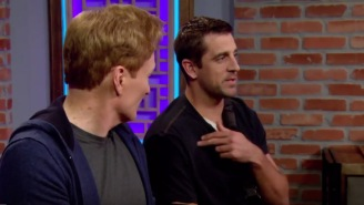 Aaron Rodgers Revealed He Has 13 Screws In His Collarbone While On 'Clueless Gamer' With Conan