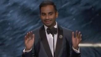 Aziz Ansari Goes On Hilarious Rant About Award Shows While Accepting Award At Award Show