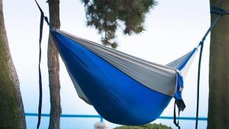 PRO TIP: Buy This Parachute Hammock TODAY For $22 So You Can Nap In It By Monday
