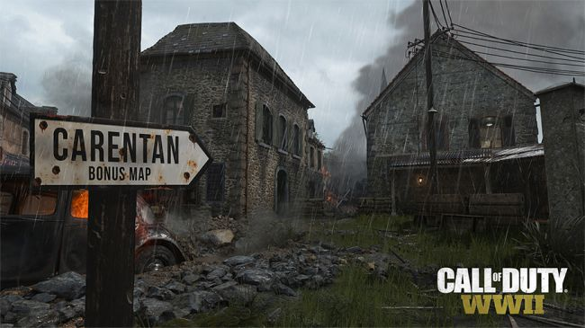 call of duty carentan map