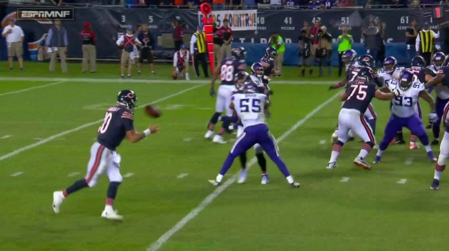 chicago bears two point conversion mnf
