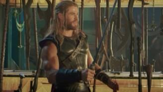 Chris Hemsworth Shared A New 'Thor: Ragnarok' Clip And Matt Damon Hilariously Crashed 'Kimmel' Again