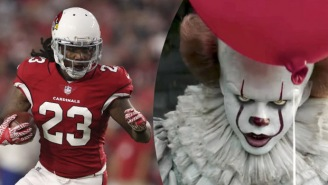 Check Out Chris Johnson's New Custom 'IT'-Themed Cleats Featuring Pennywise The Scary AF Clown