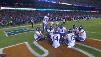The Minnesota Vikings Bust Out Awesome 'Duck, Duck, Goose' Team Celebration On 'MNF'