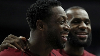 Dwyane Wade Makes Fun Of LeBron's Hair During Their Workout, Then Gets Mocked By His Own Wife