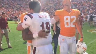 SC QB Jake Bentley Consoled Emotional Tennessee QB Jarrett Guarantano After Game