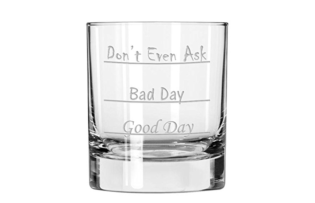Good Day Bad Day Glass